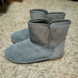 Gray Fur Lined Boots (10)